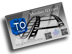 toronto film industry members card